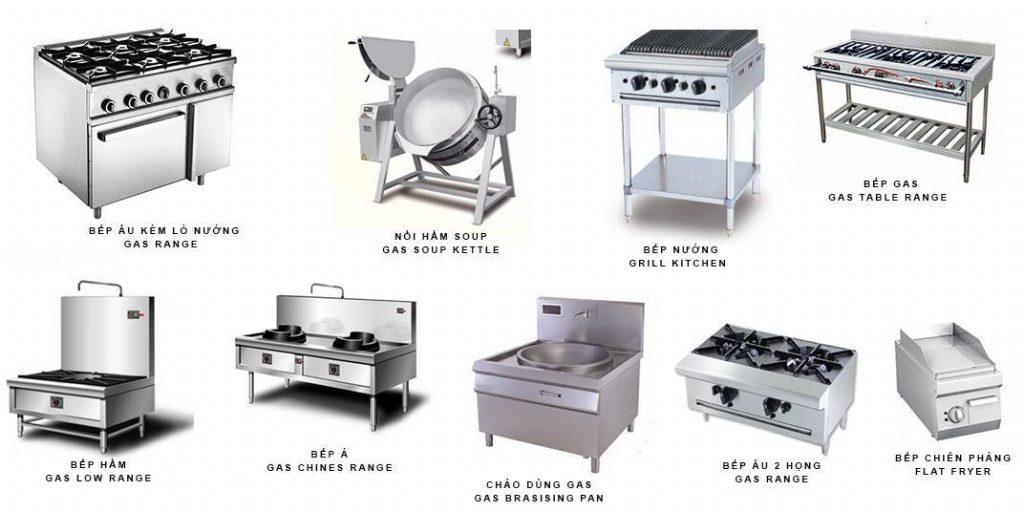 Các thiết bị nấu nướng trong các bếp nhà hàng, quán ăn