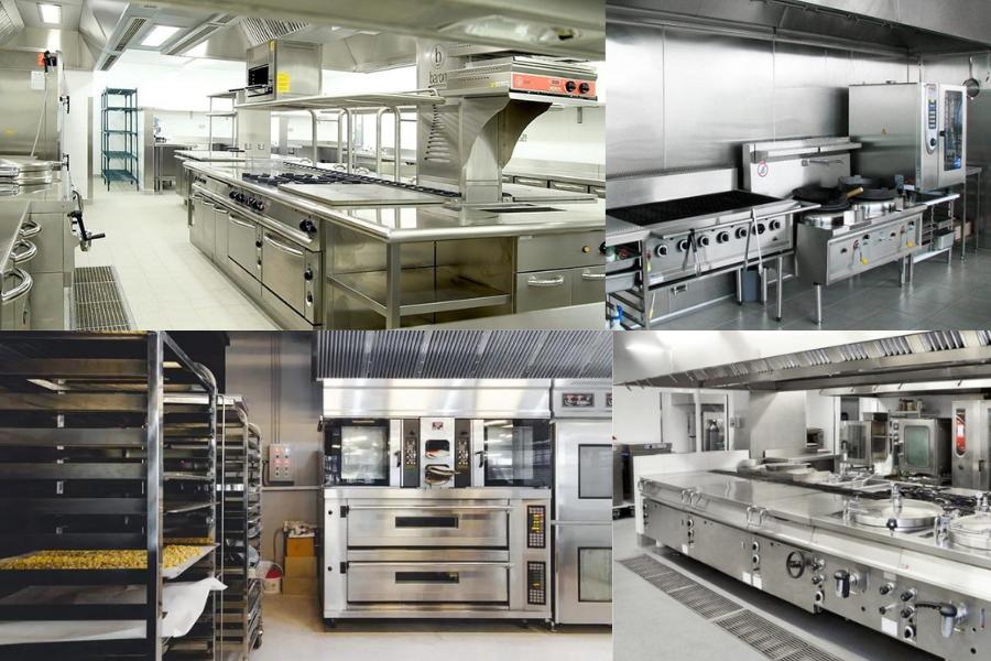 Bếp công nghiệp được chia thành nhiều khu vực