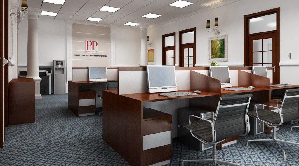 Bàn ghế văn phòng cũ đều sạch sẽ, chắc chắn tới 90%