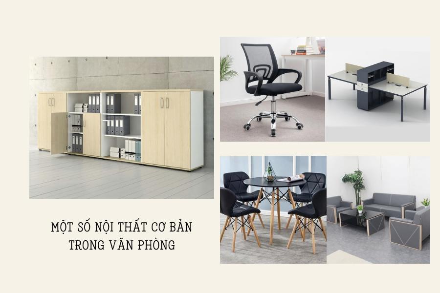Nội thất văn phòng khá đa dạng chủng loại và vật dụng